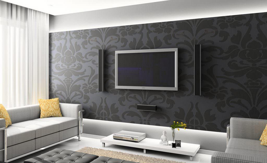 tv arkası üç boyutlu duvar kağıtları
